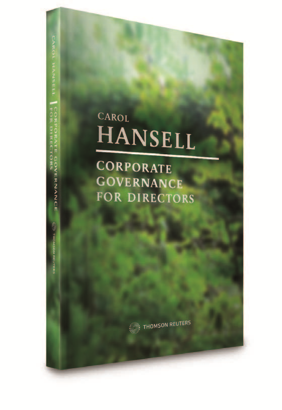 Corporate Governance for Directors by Carol Hansell